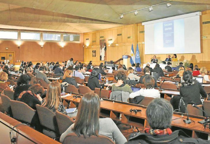 """A SALA LLENA. El evento titulado """"Historias de Éxito"""" fue organizado por Rodolfo Terragno, embajador argentino ante el organismo que fue creado por las Naciones Unidas."""