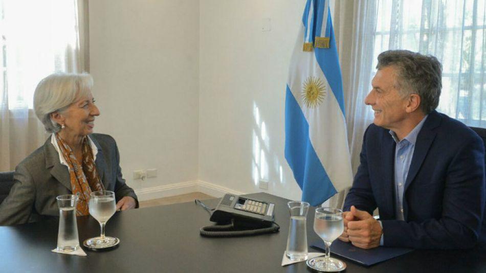 Macri y Cristina Lagarde