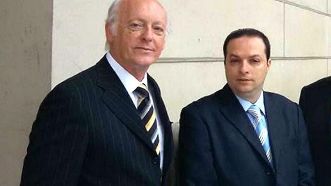 DAIA president Alberto Indij and his predecessor Ariel Cohen Sabban.