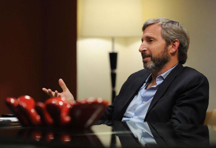 El ministro de Interior, Obra Pública y Vivienda, Rogelio Frigerio.