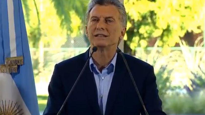 Mauricio Macri en Olivos: