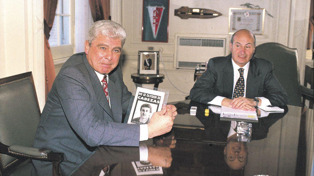 Yabrán junto al entonces jefe de Gabinete Jorge Rodríguez.