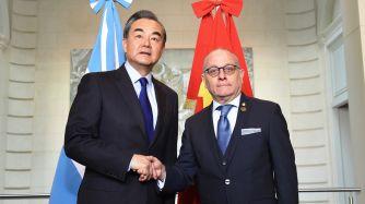 Reunión de cancilleres chino y argentino.