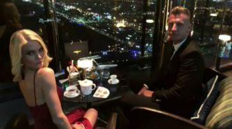 Maxi López llevó a su novia a Dubai para celebrar su cumple