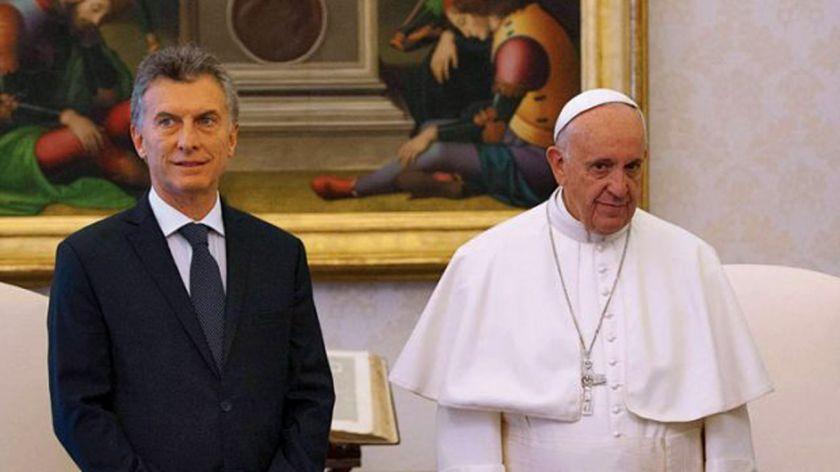 Resultado de imagen para francisco papa y macri
