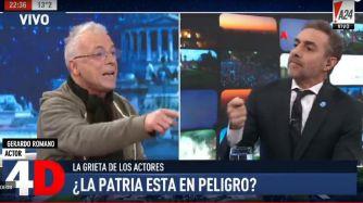 Gerardo Romano y Majul, discutiendo si