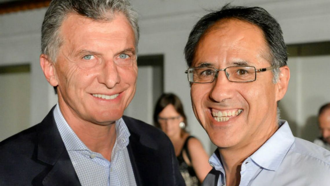 Sergio Wisky (right), pictured with Preisdent Mauricio Macri.