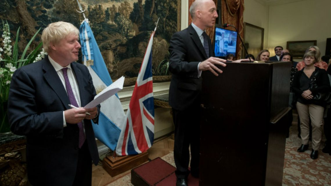 Foreign Secretary Boris Johnson delivered a speech at an event at the British Ambassador's Residence, hosted by Ambassador Mark Kent.