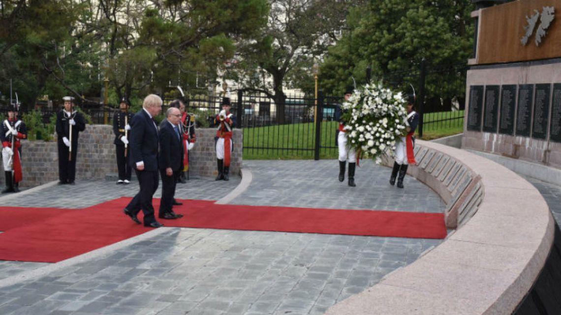Boris Johnson, the first British foreign secretary to visit Argentina