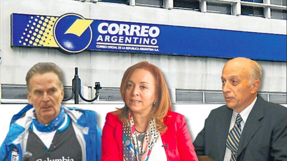 El apoderado de la familia Macri, Jaime Cibils Robirosa; la fiscal general ante la Cámara Comercial Gabriela Boquin; y el procurador general, Eduardo Casal.