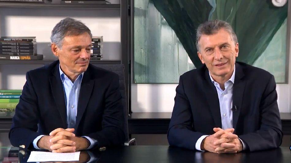 Energía. Macri y Cabrera al frente de la exhortación a la oposición.