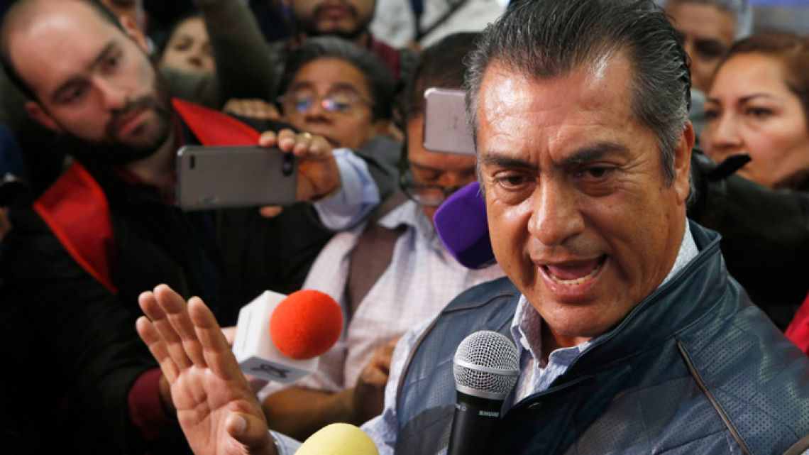 Independent presidential candidate Jaime 'El Bronco' Rodríguez. Mexico's electoral institute announced Monday that it has fined Rodríguez more than US$37,000 (739,000 pesos) for an assortment of alleged campaign violations.