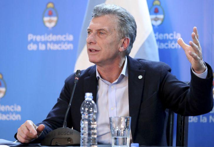 Macri, en la conferencia de prensa en la que justificó el veto