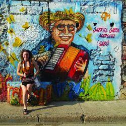 Mural a Gabriel Garcia Márques en Cartagena