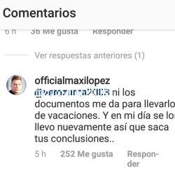 Respuesta Maxi Lopez