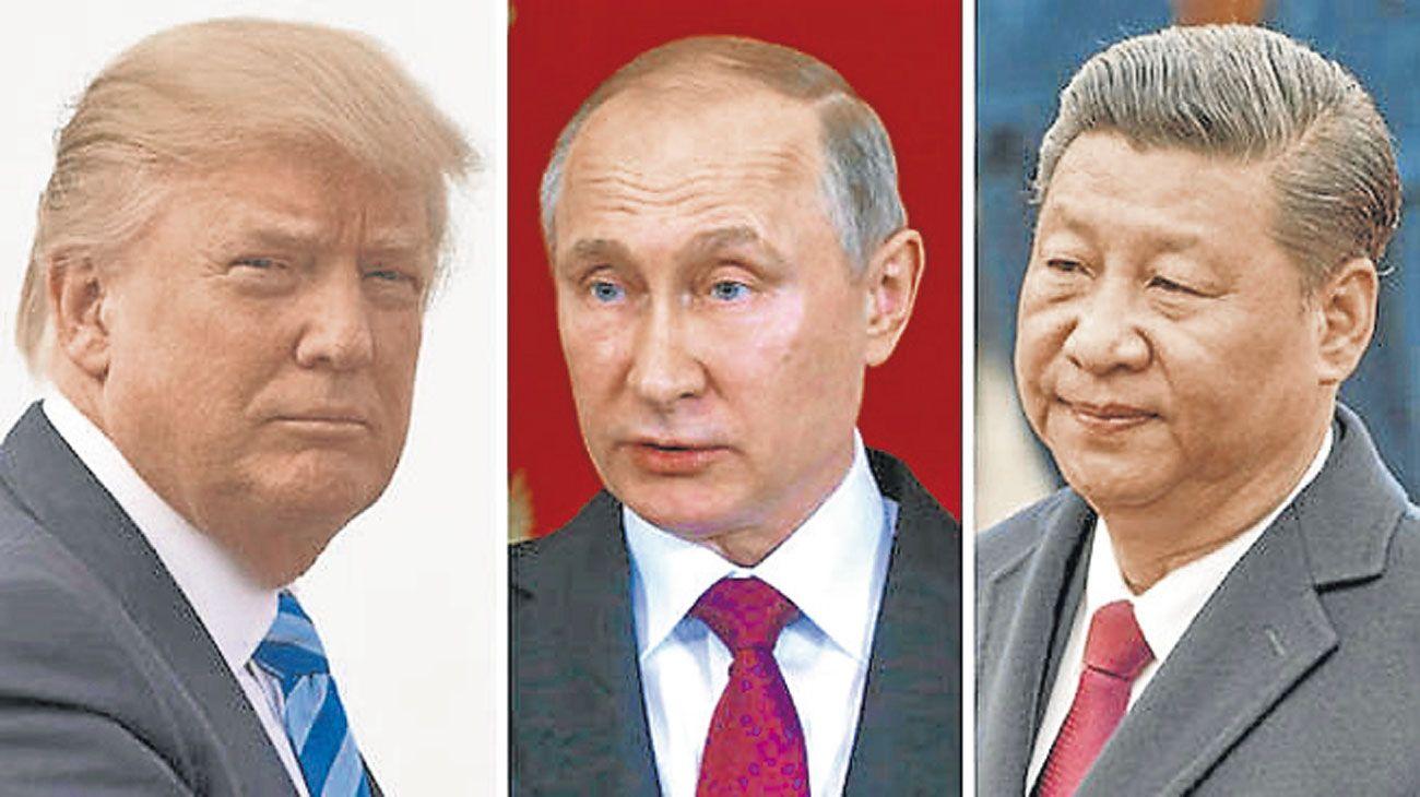 poder. Por estilo o los regímenes que lideran, amenazan la hegemonía liberal de la posguerra.
