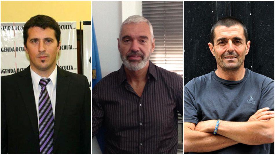 Carlos Gonella, Emilio Guerberoff y Federico Delgado