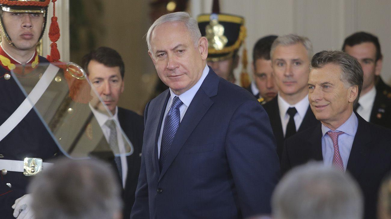Benjamín Netanyahu y Mauricio Macri