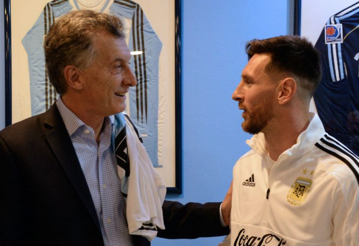 Mauricio Macri, Lionel Messi, selección 20180606