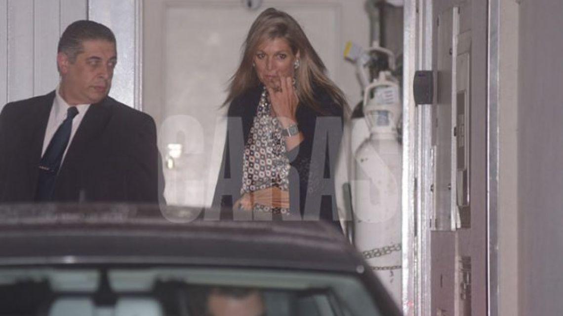 Dutch Queen Maxima arrives in Buenos Aires.