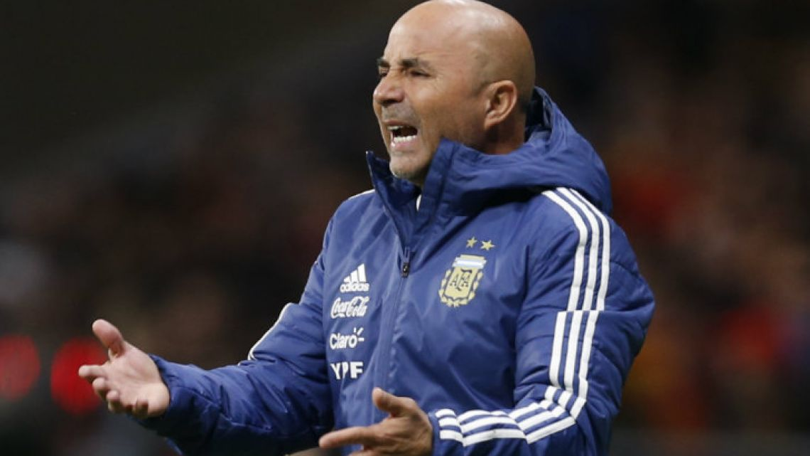 Argentina's coach, Jorge Luis Sampaoli.