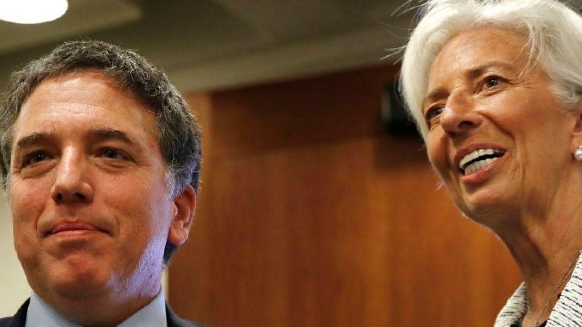 Nicolas Dujovne and Christine Lagarde.