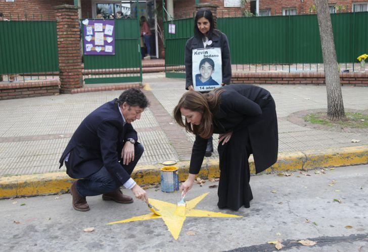 La gobernadora María Eugenia Vidal y el intendente de San Isidro Gustavo Posse