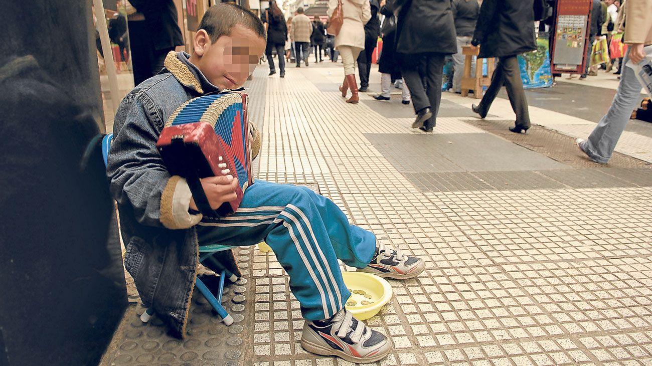 Menores en situación de calle.