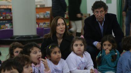 María Eugenia Vidal y el intendente de San Isidro Gustavo Posse