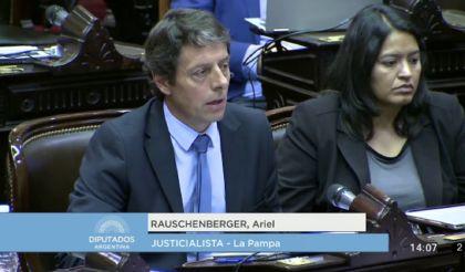 Ariel Rauschenberger, diputado justicialista de La Pampa