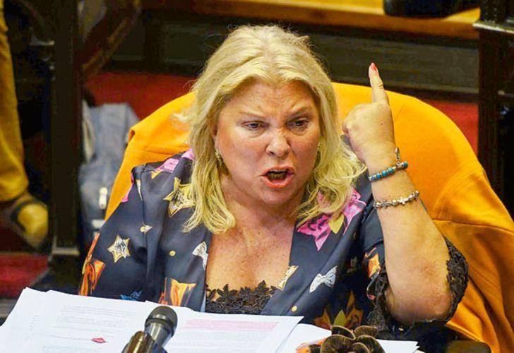 Elisa Carrió cargó contra el gobernador de Córdoba Juan Schiaretti para que apoye el Presupuesto 2019.