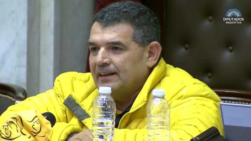Alfredo Olmedo, en la sesión que debatió el aborto en Diputados.