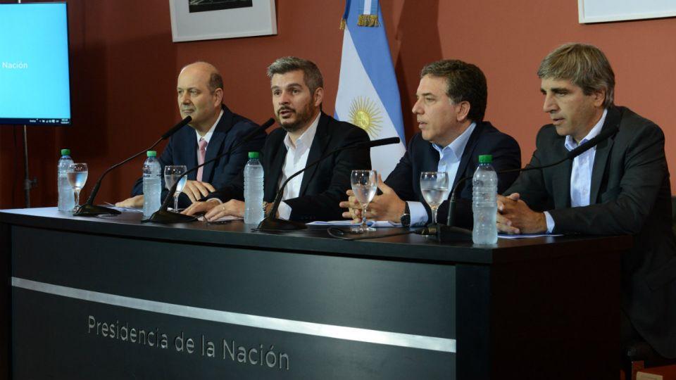 El 28 de diciembre pasado la conferencia del Jefe de Gabinete Marcos Peña, junto a los ministros de Hacienda, Nicolás Dujovne, y de Finanzas, Luis Caputo, y el presidente del Banco Central, Federico Sturzenegger, marcaba el principio del fin.