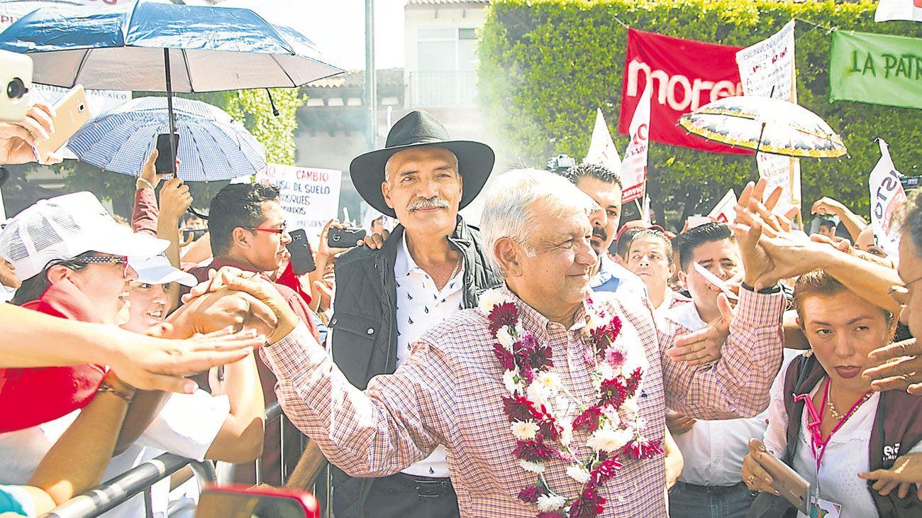 El gran favorito. El líder de Morena encabeza las encuestas con el 50% de intención de voto.
