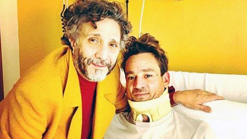 La primera foto de Chano Moreno Charpentier internado después de la operación