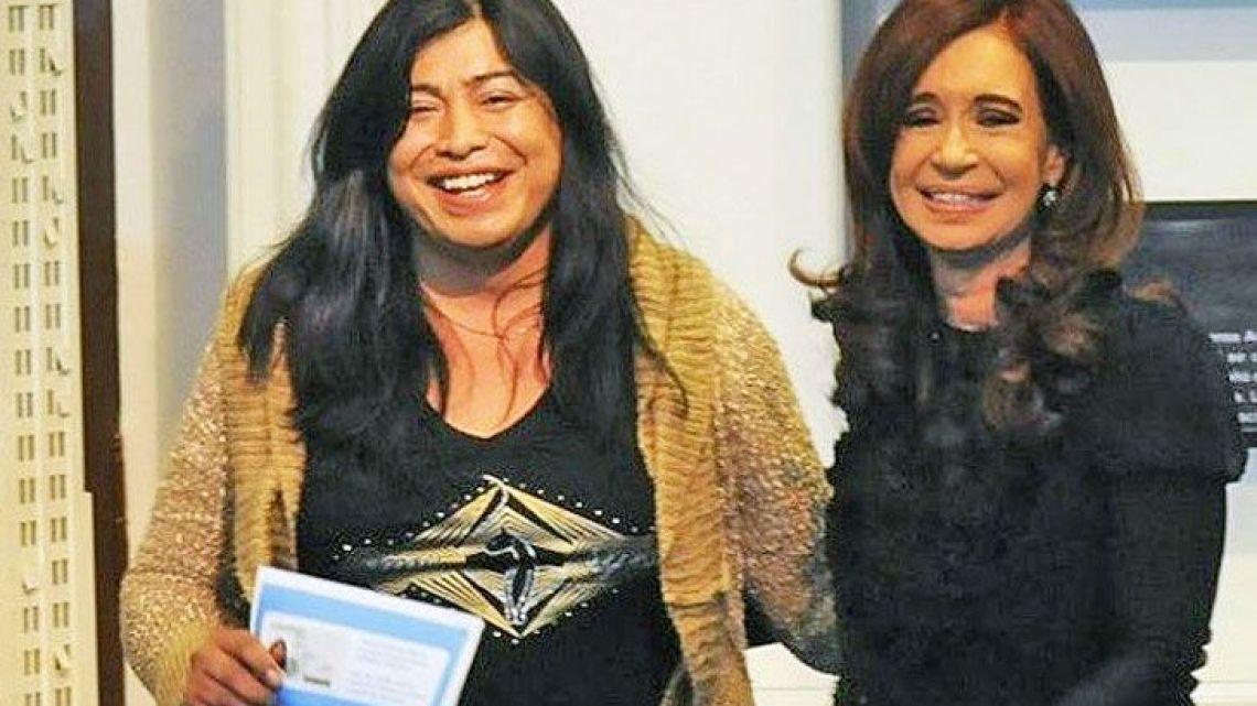 A file photograph of the late trans activist Diana Sacayán and former president Cristina Fernández de Kirchner.