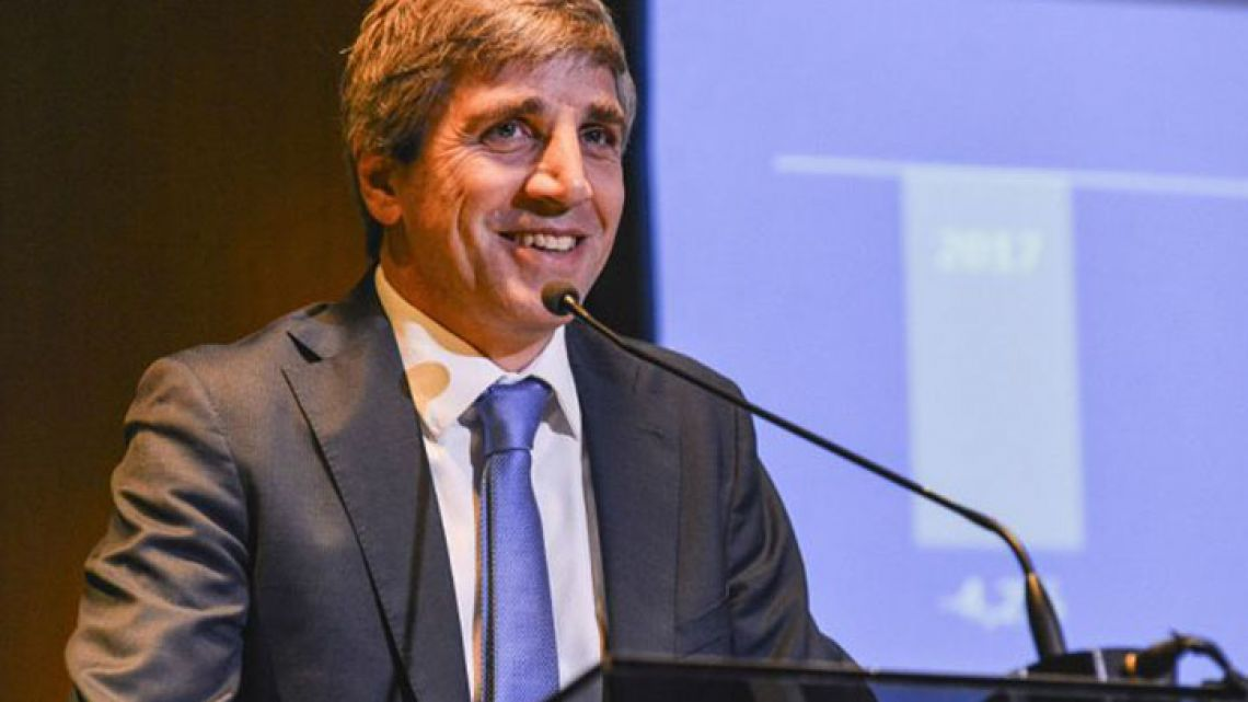 Argentina's Central Bank Governor Luis Caputo.