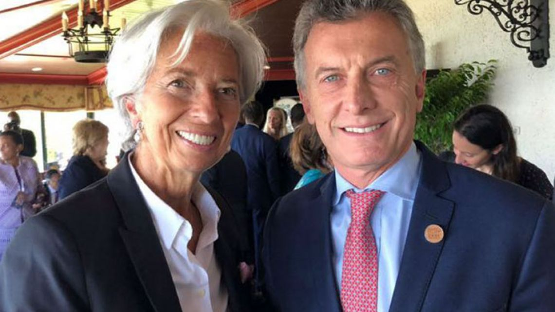 IMF Managing Director Christine Lagarde and President Mauricio Macri