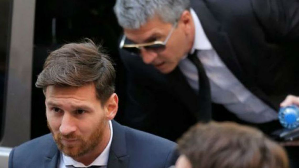 Lionel Messi and his father Jorge Horacio were fined 500,000 euros for tax evasion in Spain.