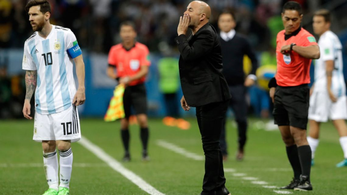 "Argentina coach Jorge Sampaoli admitted his side were ""emotionally broken"" after conceding the first goal in their 3-0 defeat by Croatia on Thursday."