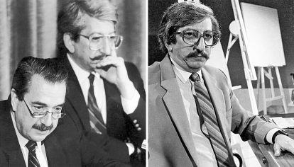 Juntos. Con Alfonsín, en pleno gobierno. Y durante el célebre debate con el senador peronista Vicente Leónidas Saadi.