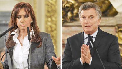 Cristina y Mauricio. Líderes del cristinismo y del macrismo. Se vota a personas, no a partidos.