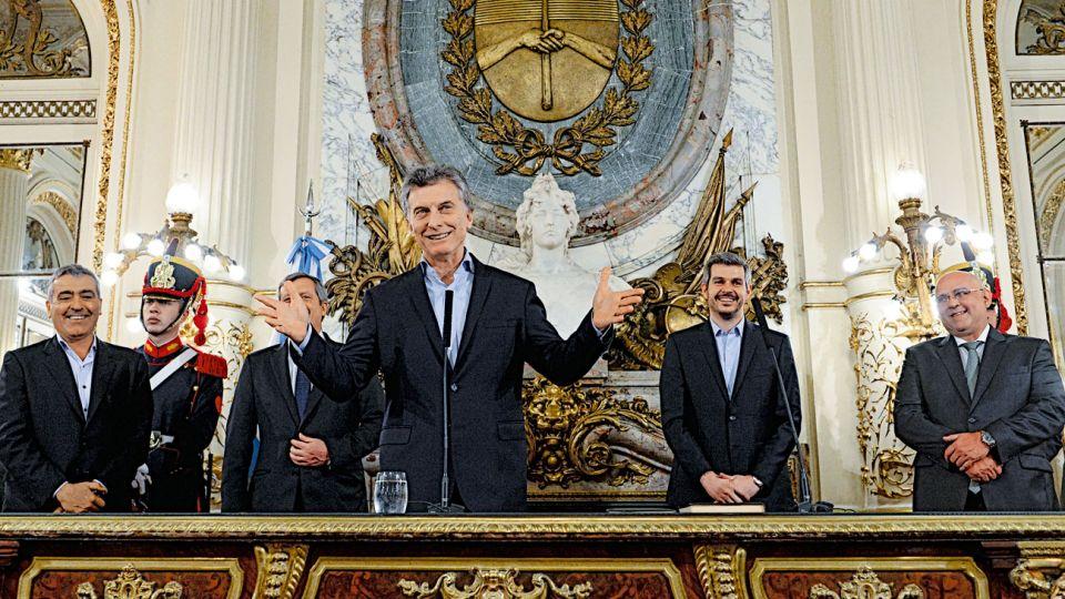 Presidente. Esta semana puso en funciones a los reemplazantes de Aranguren y Cabrera. Por ahora no quiere modificaciones.