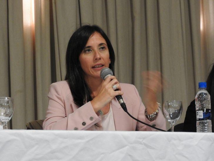 EN FORJA. Brambilla fue una de las oradoras de un encuentro partidario.