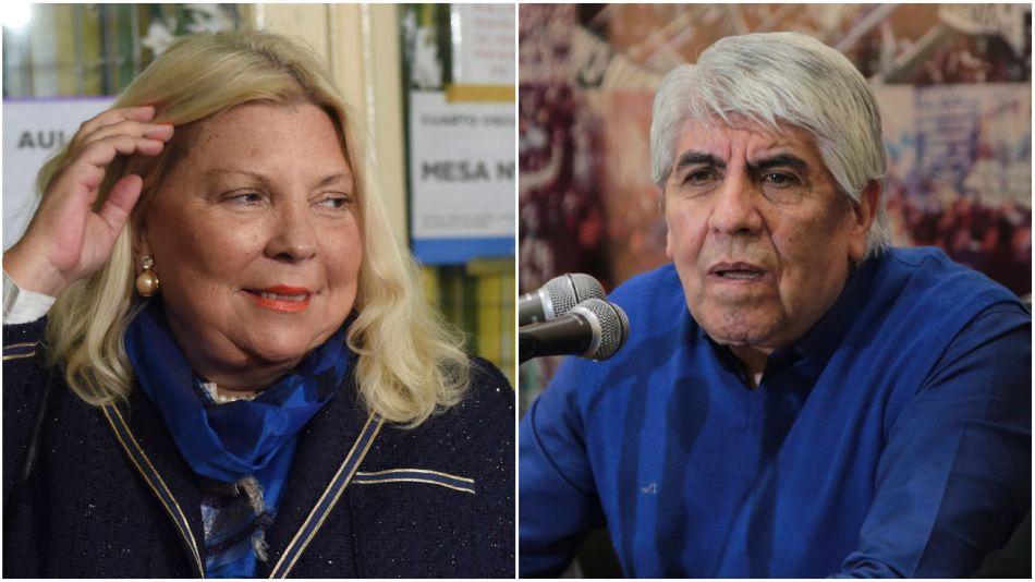 Lilita Carrió y Hugo Moyano.