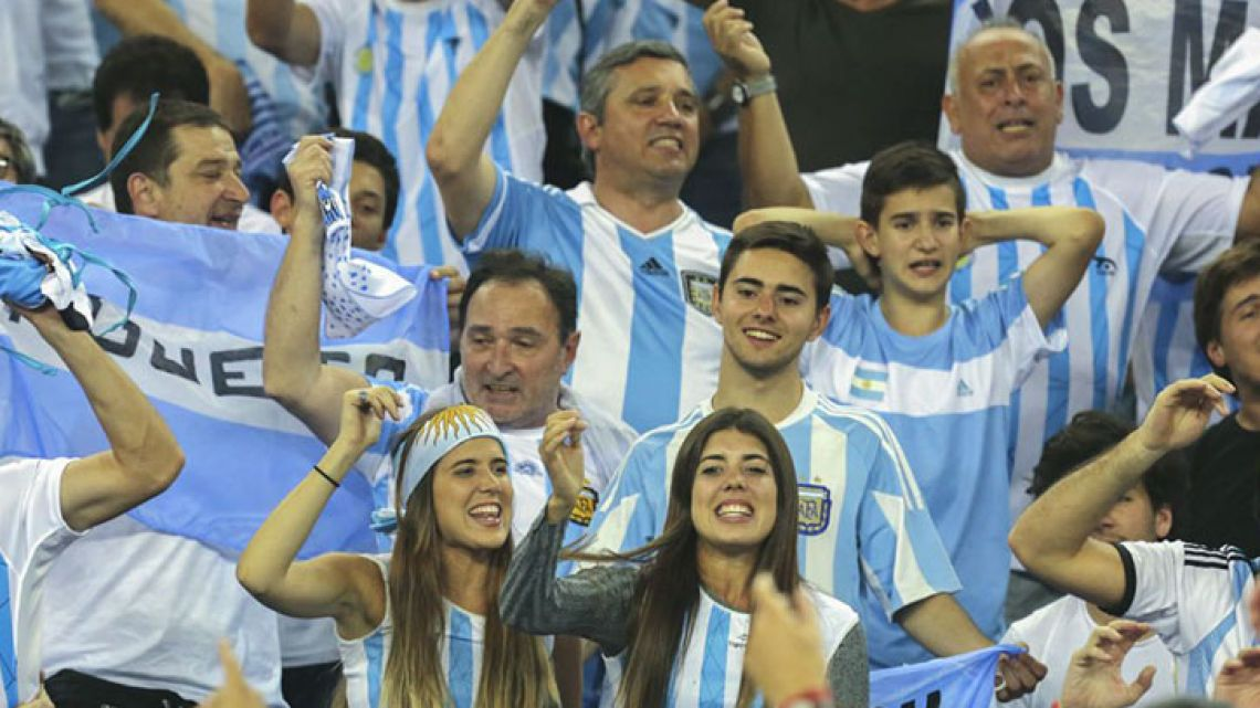 Argentina fans in Russia for the 2018 World Cup.