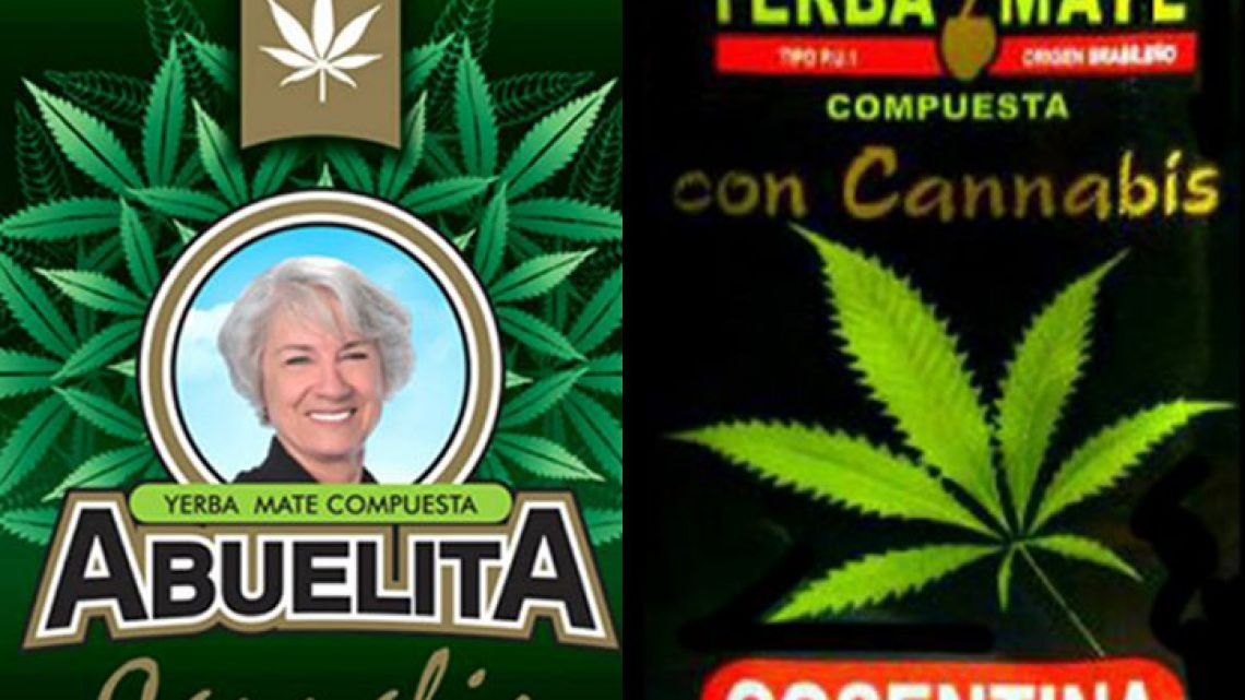 Traditional yerba mate products with a twist: cannabis.
