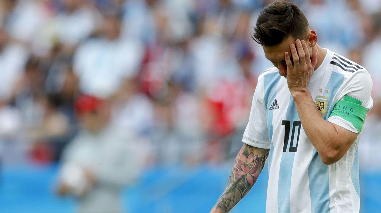 Messi lamenta la eliminación.