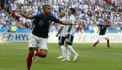 Kylian Mbappé, la gran figura de Francia en la victoria sobre Argentina.