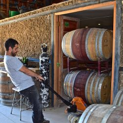 José Antonio Bravo shifts the product at OWM Wines.